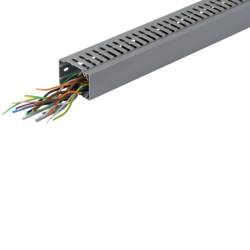 BA7A25040 slottet panel trunking BA7A 25x40, grey